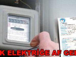 Kaçak Elektriğe Af Geliyor