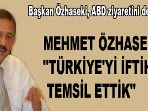 """ÖZHASEKİ: """"TÜRKİYE'Yİ İFTİHARLA TEMSİL ETTİK"""""""