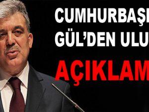 Cumhurbaşkanı Gül'den 'Uludere' Açıklaması