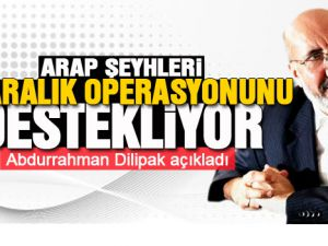 Yolsuzluk Operasyonu' hakkında şu açıklamaları yaptı: