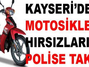 KAYSERİ'DE MOTOSİKLET HIRSIZLARI YAKALANDI