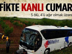 Trafikte Kanlı Cumartesi: 5 Ölü, 32 Yaralı
