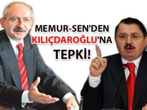 Memur-Sen'den Kılıçdaroğlu'na Tepki