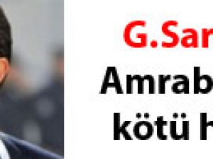 G.Saray'a Amrabat'tan kötü haber
