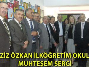 Şehit Aziz Özkan İlköğretim Okulundan Muhteşem Sergi