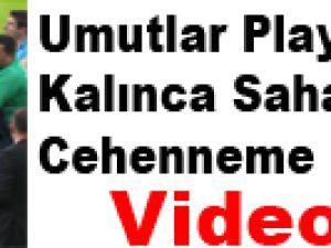 Rize'de Maç Sonrası Saha Karıştı - Video
