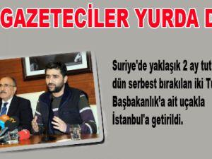 Türk Gazeteciler Yurda Döndü