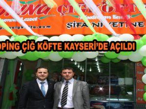 DOPİNG ÇİĞ KÖFTE DOYUMSUZ LEZZET KAYSERİ'DE AÇILDI