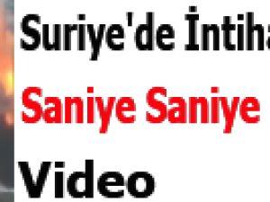 Suriye'de İntihar saldırısı saniye saniye kamerada!Video