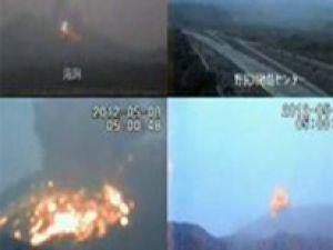 Sakurajima Yanardağı yeniden lav püskürttü