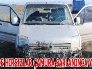 KAYSERİ'DE HIRSIZLAR ÇAMURA SAPLANINCA YAKALANDI