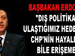 """""""DIŞ POLİTİKADA ULAŞTIĞIMIZ HEDEFLERE CHP'NİN HAYALLERİ BİLE ERİŞEMEZ"""""""