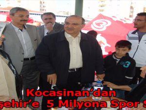 Kocasinan'dan Beyazşehir'e  5 Milyona Spor Salonu