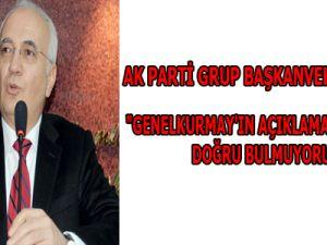 """""""GENELKURMAY'IN AÇIKLAMA YAPMASINI DOĞRU BULMUYORUM"""""""