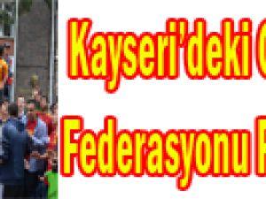 KAYSERİ'DEKİ GALATASARAY TARAFTARLARINDAN FEDERASYONA PROTESTO