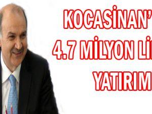 KOCASİNAN'DAN 4.7 MİLYON LİRALIK İHALE