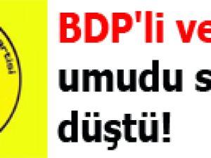 BDP'li vekillerin umudu suya düştü
