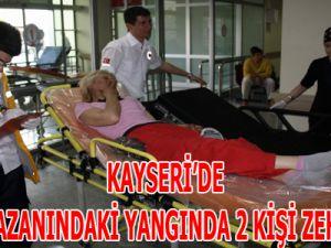Kayseri'de Banyo Kazanındaki Yangında 2 Kişi Zehirlendi