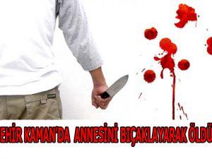 Kırşehir'de Annesini Bıçaklayarak Öldürdü
