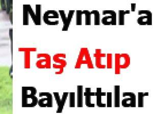 Neymar'a Taş Atıp Bayılttılar / VİDEO
