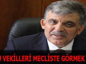 Gül'den Tutuklu Vekillerle İlgili Açıklama