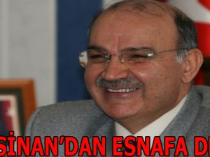 KOCASİNAN'DAN ESNAFA DESTEK