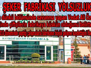 KAYSERİ  ŞEKER  FABRİKASI  YOLSUZLUK  DAVASI