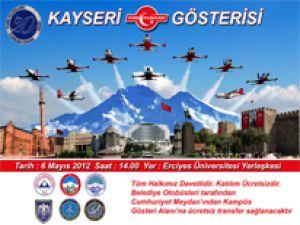 Türk Yıldızları Kayseri'ye Geliyor