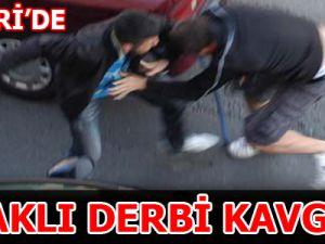 KAYSERİ'DE BIÇAKLI DERBİ SAVAŞI!