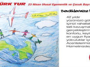 ÖGER TÜRK TUR 23 Nisan Ulusal Egemenlik Ve Çoçuk Bayramı'nızı Kutlar