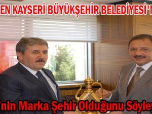 DESTİCİ'DEN KAYSERİ BÜYÜKŞEHİR BELEDİYESİ'NE ZİYARET