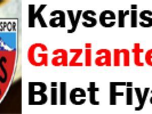 Kayserispor – Gaziantepspor Bilet Fiyatları