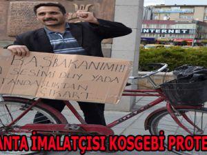 BAYAN ÇANTA İMALATÇISI KOSGEBİ PROTESTO ETTİ