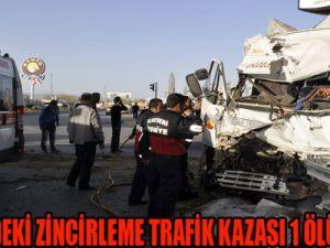 KAYSERİ'DEKİ ZİNCİRLEME TRAFİK KAZASI: 1 ÖLÜ, 9 YARALI