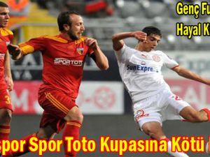 Kayserispor Spor Toto Kupasına Kötü Başladı