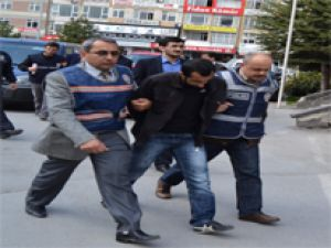 KAYSERİ'DE KATİL ZANLILARI ADLİYE'YE ÇIKARTILDI
