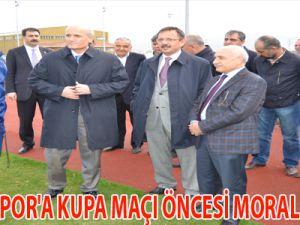 KAYSERİSPOR'A KUPA MAÇI ÖNCESİ MORAL ZİYARETİ