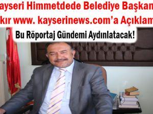 Himmetdede Belediye Başkanı Hamza Arslan Açıklama Yaptı
