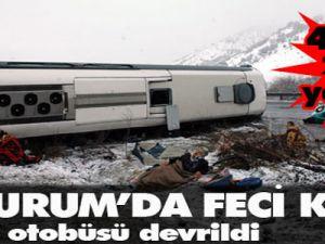 Yolcu otobüsü devrildi: 3 ölü, 14 yaralı