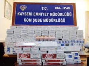 KAYSERİ JANDARMA'SINDAN KAÇAK SİGARA OPERASYONU