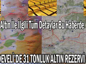KAYSERİ'DE 31 TONLUK ALTIN REZERVİ BULUNDU