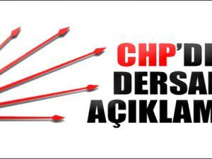 CHP'den Dersane Açıklaması
