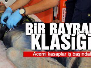 KAYSERİ'DE 2 SAATTE 72 ACEMİ KASAPLAR HASTANEYİ DOLDURDU