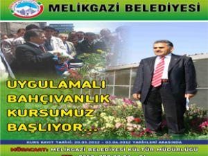 Melikgazi Belediyesi Bahcivanlık Kursu Veriyor