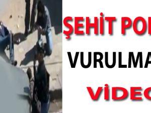 Şehit Polisin Vurulma Anı! VİDEO