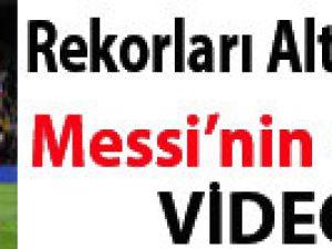 REKORLARI ALT ÜST ETTİ MESSİ'NİN GECESİ VİDEO