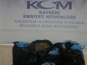 KAYSERİ'DE POLİS 48 KİLO ESRAR ELE GEÇİRDİ