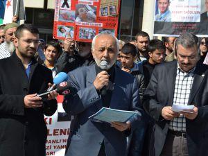 MAZLUMDER KAYSERİ ŞUBESİ ESED'İ PROTESTO ETTİ