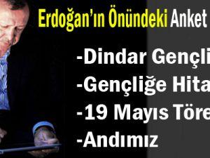 Erdoğan'ın Önündeki  Anket Sonuçları