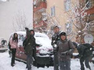 Kayseri'de Okullara Kar Tatili